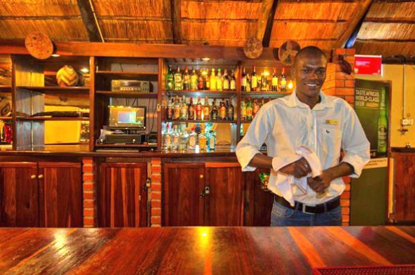 Barman at Island Safari Lodge in Maun, Botswana