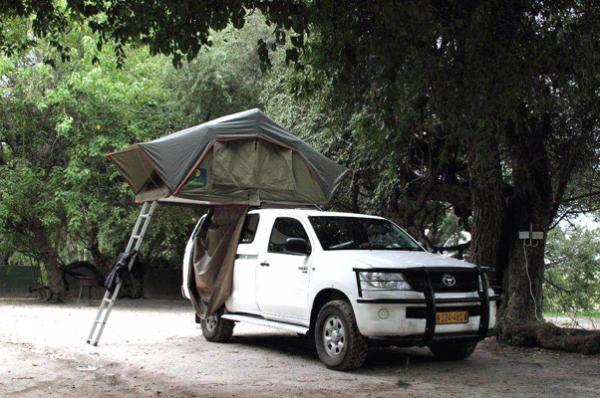 Camper at Island Safari Lodge in Maun, Botswana