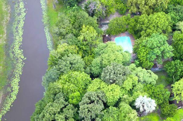 Aerial view of Campsite at Island Safari Lodge in Maun, Botswana