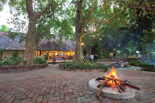 Boma at Island Safari Lodge in Maun, Botswana