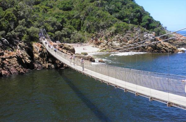 Suspension bridge, Tsitsikamma National Park, Garden Route, Alan Tours