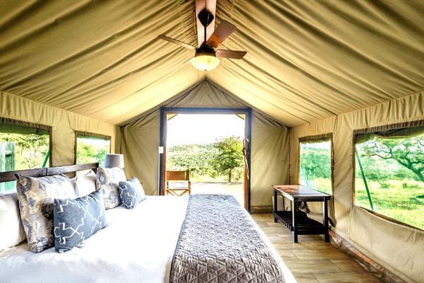 Luxury tent at Mavela Game Lodge