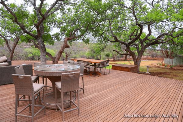 Wooden Deck at Zebra Hills Safari Lodge