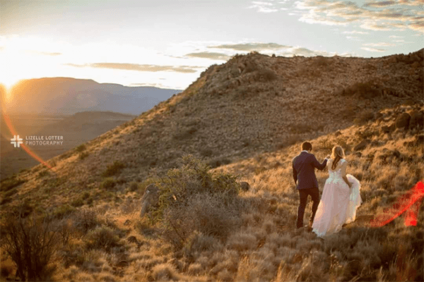 Bride and Groom at The Vale Karoo Farm