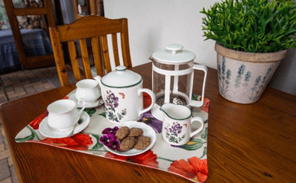 Tea and Biscuits at Milkwood Country Cottage