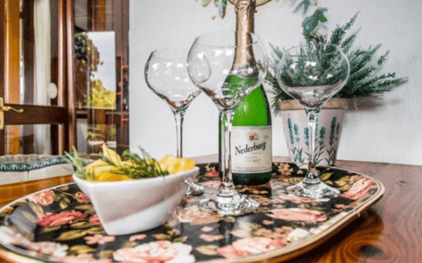 Champagne at Milkwood Country Cottage