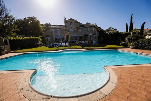Swimming pool at Clos Malverne Wine Estate