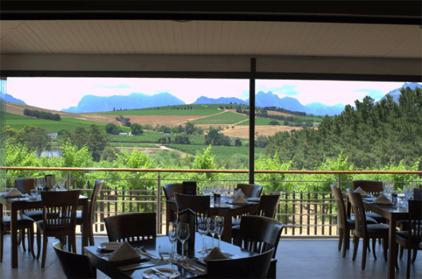 Dining at Clos Malverne Wine Estate