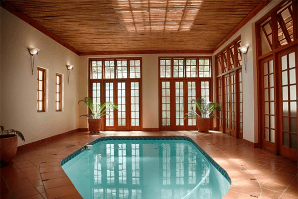 Indoor swimming pool at Kleine Constantia Boutique Guest House