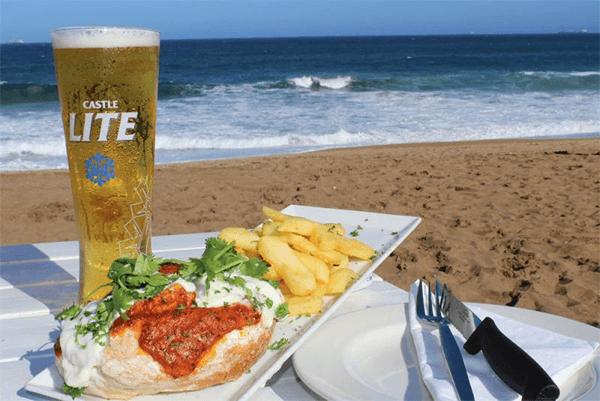 Food at Beach Bums Restaurant