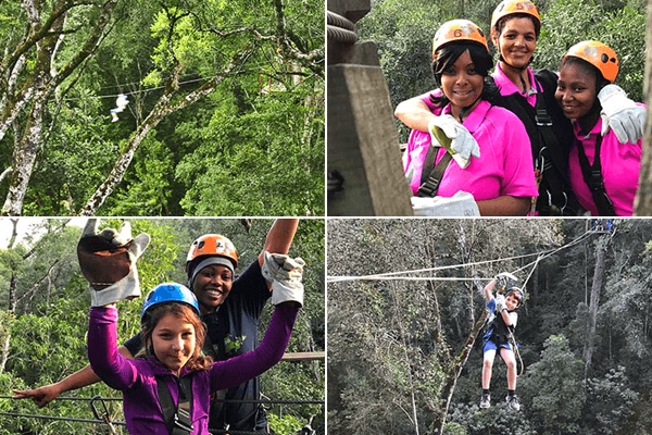 Zip lining with Stormsriver Adventures (Pty) Ltd