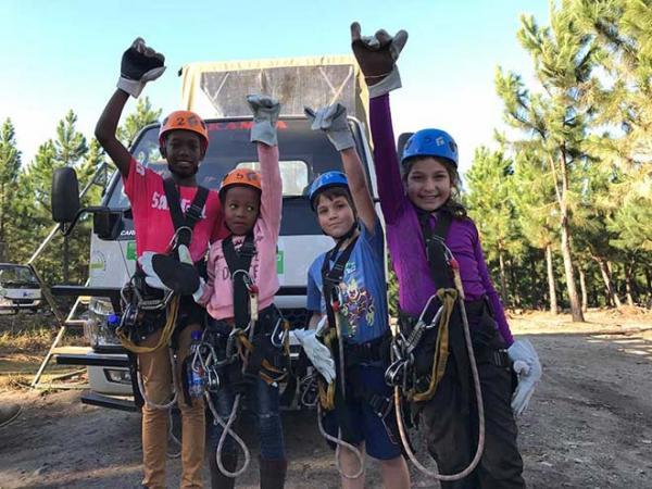Kids having fun at Tsitsikamma Canopy Tour
