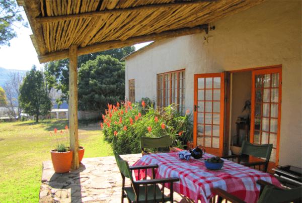 Patio at Inversanda Farm Cottages