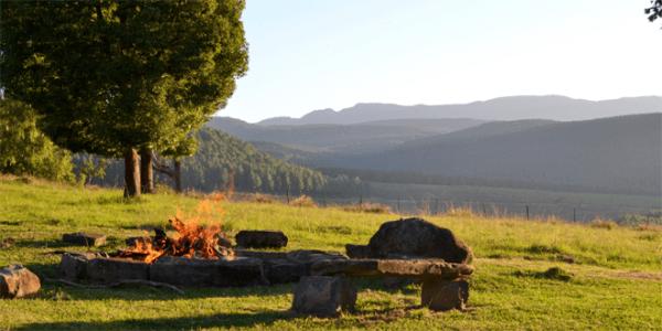 Fire pit at Inversanda Farm Cottages