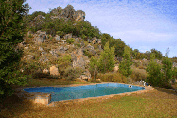 Swimming pool at Pampoen Fontein Farm