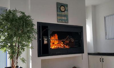 Fireplace at VIP Beach Villa