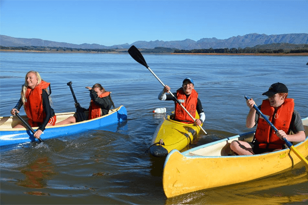 Canoeing at Theewater Sports Club