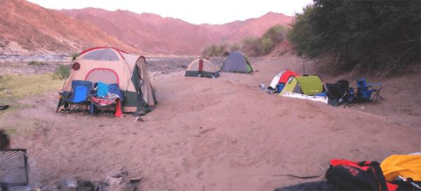 Camping at Orange River Rafting