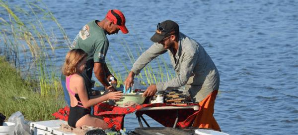 Picnic Spot at Orange River Rafting