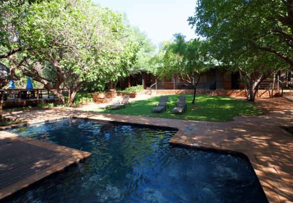 Swimming pool at Tuskers Bush Lodge B&B