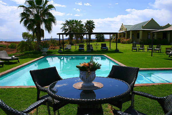 Swimming pool at De Denne Guest House