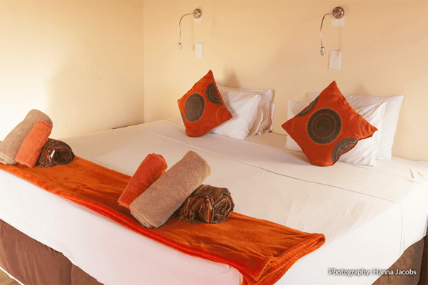 Room at Nghunghwa Lodge in Bilene, Mozambique